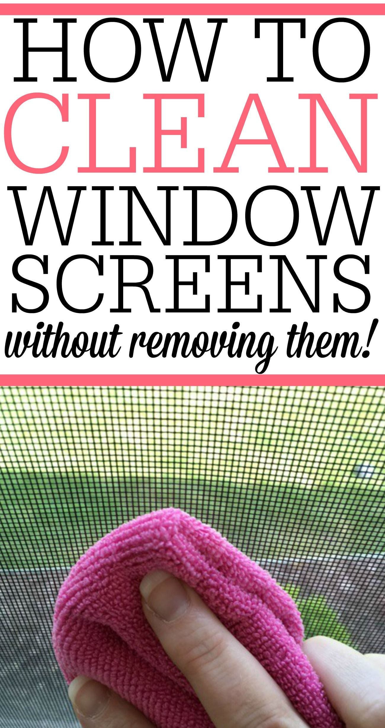 How To Clean Your Window Screens Cleaning