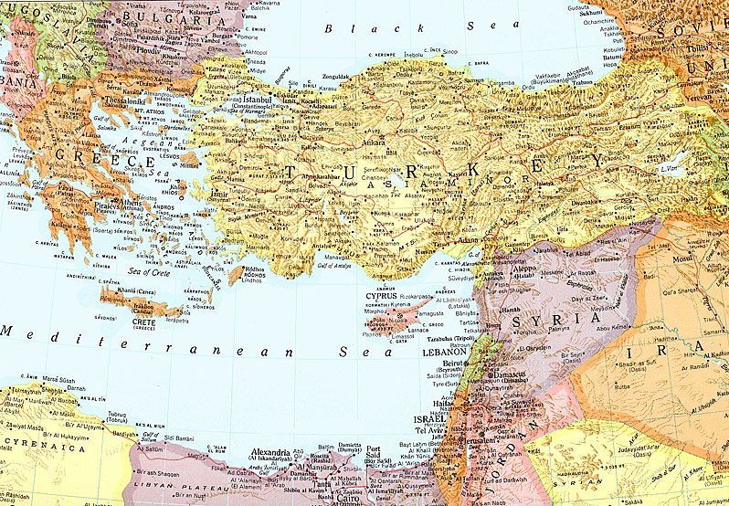 Map of Eastern Mediterranean Region | Map Mediterranean ...