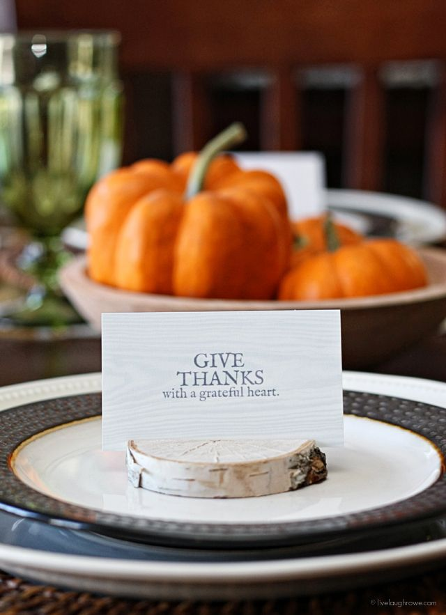 DIY Birch Place Card Holders and a