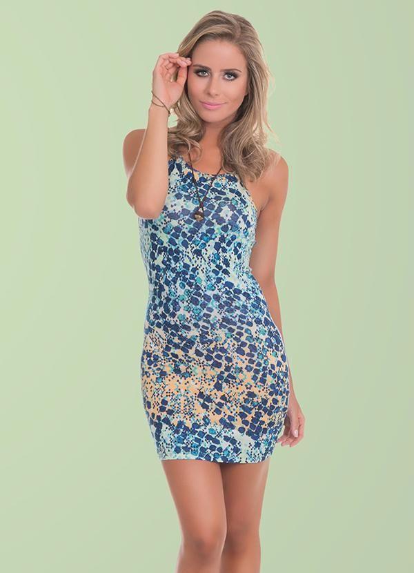73dfdafdd0068 Vestido Viscolycra Azul Miss Masy - Posthaus