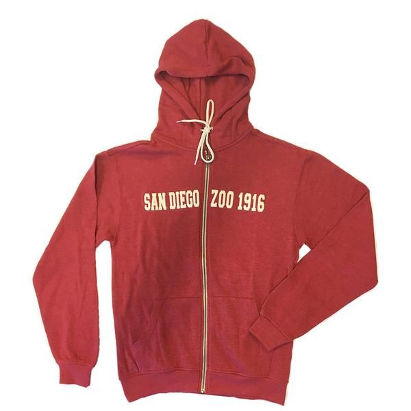 dde65bf21 San Diego Zoo 1916 Zip-Up Sweatshirt   zoovenirs   San diego zoo ...