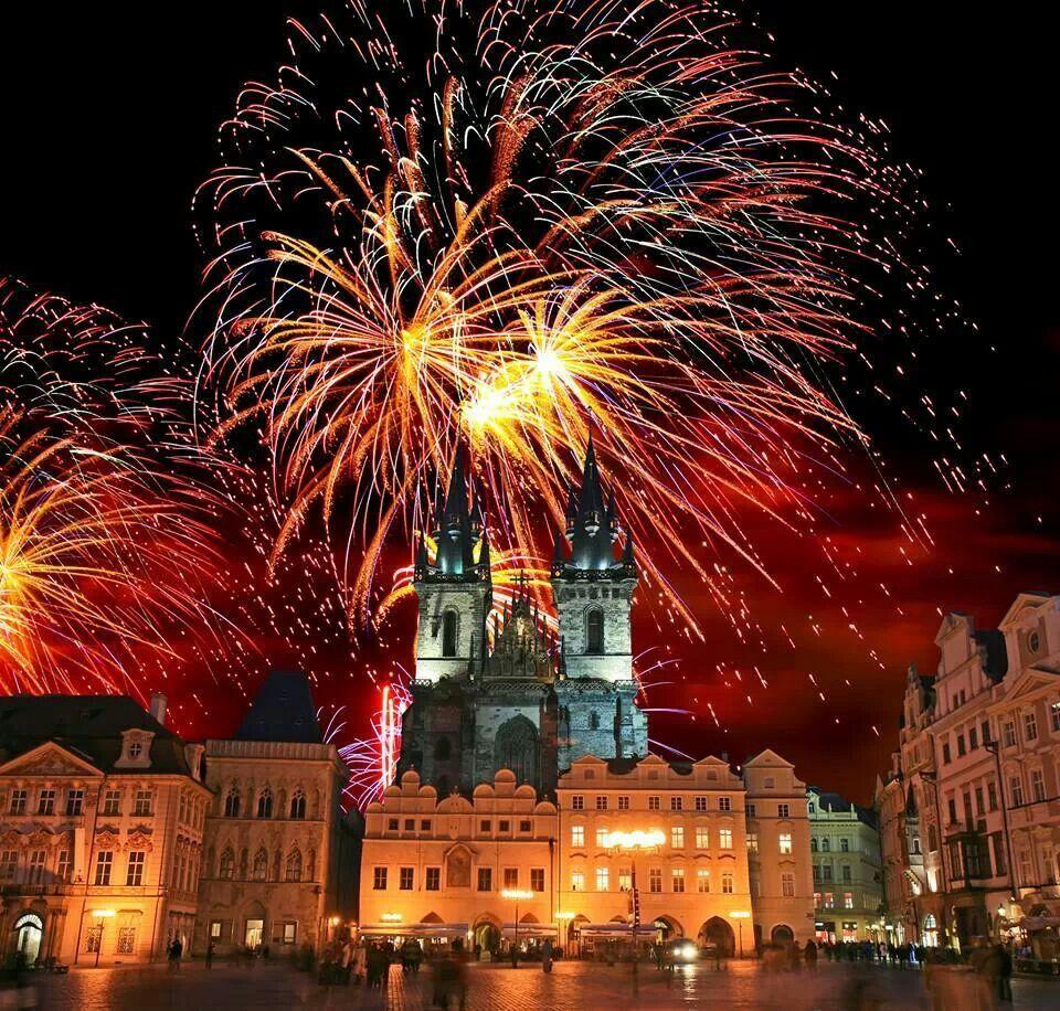 Prague at New Years New year's eve around the world