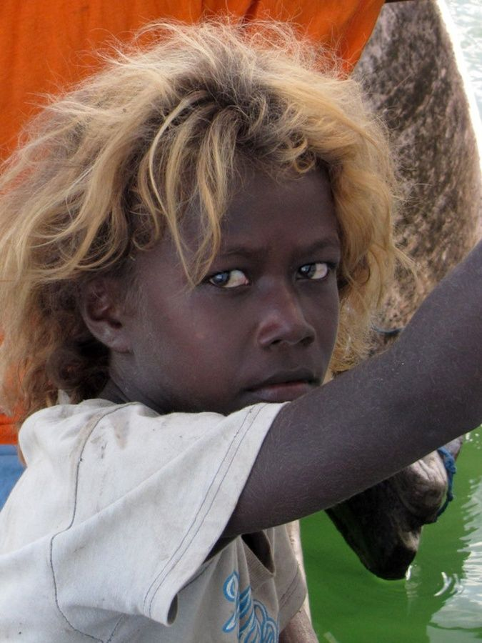 Island People Solomon Blonde Hair Melanesians