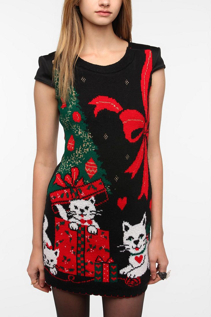 Urban Renewal Holiday Sweater Dress Urbanoutfitters Oh My Ugly