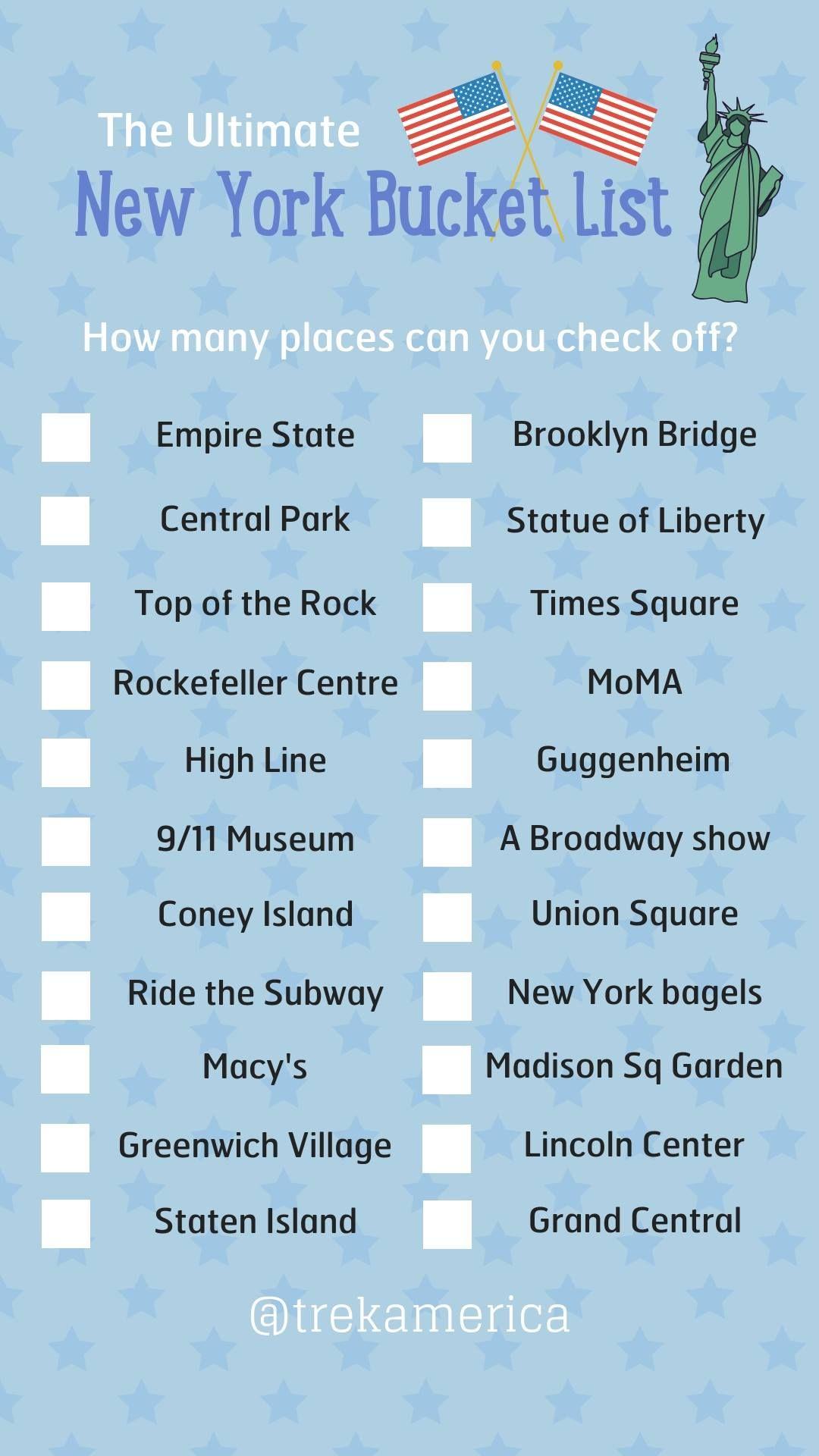 Nyc Bucket List New York City Vacation New York Travel New York City Travel