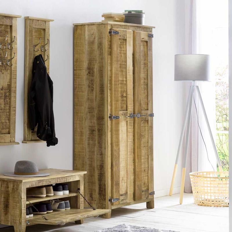 2 Turiger Design Dielenschrank Aus Mangobaum Massivholz Mit Metallbeschlagen Suennas Haus Deko Design Dielenschrank