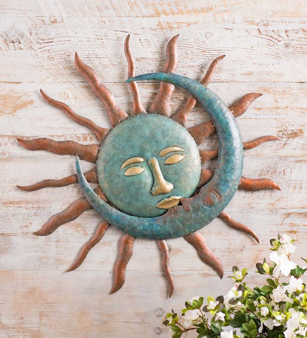 Sun Kissing Moon Metal Wall Art All Wall Art Wall Decor For The Home Wind And Weather Moon Wall Art Metal Flower Wall Decor Sun Wall Decor