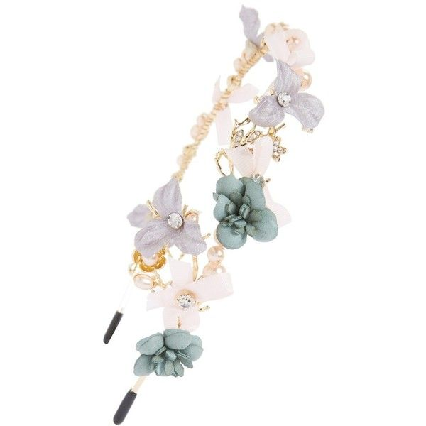 Women's Cara Flower Headband (613.225 IDR) ❤ liked on Polyvore featuring accessories, hair accessories, gold, head wrap headband, headband hair accessories, cara hair accessories, hair band headband and flower hair accessories