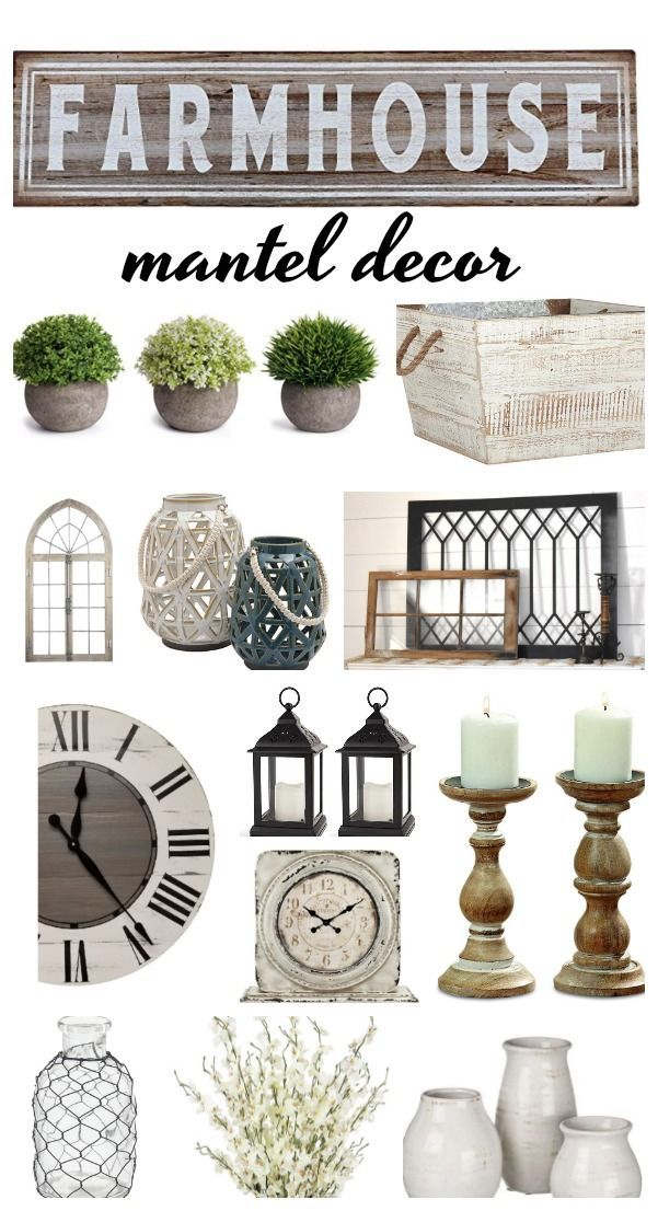 Farmhouse Accessory Ideas For Rustic Fireplace Mantels