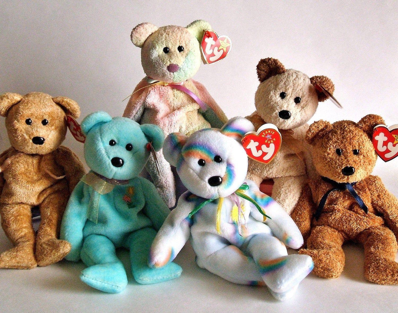 Ty Beanie Babies, Ty Bears, Stuffed Animals, Plush Bears