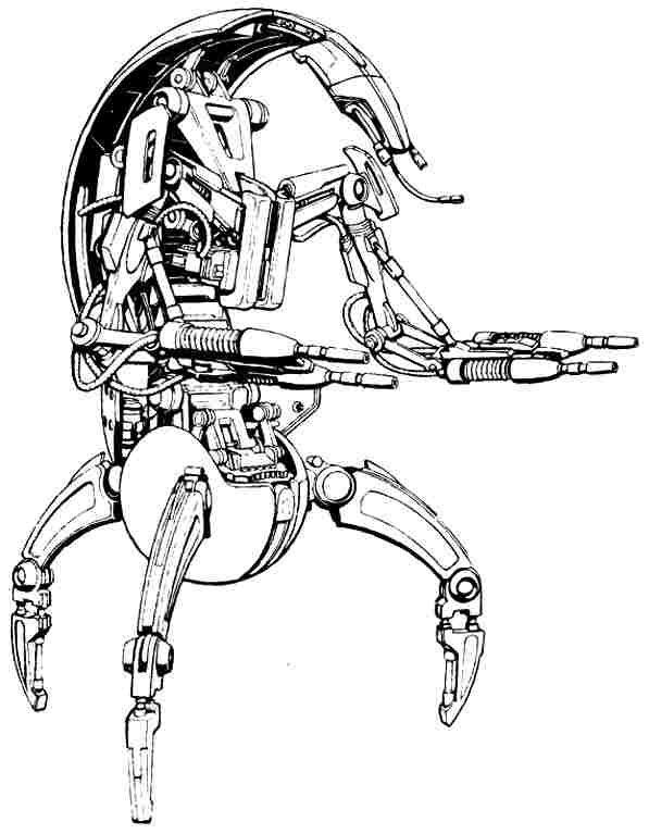 Destroyer Droids Tradefederation Star Wars Drawings Star Wars Coloring Book Star Wars Coloring Sheet