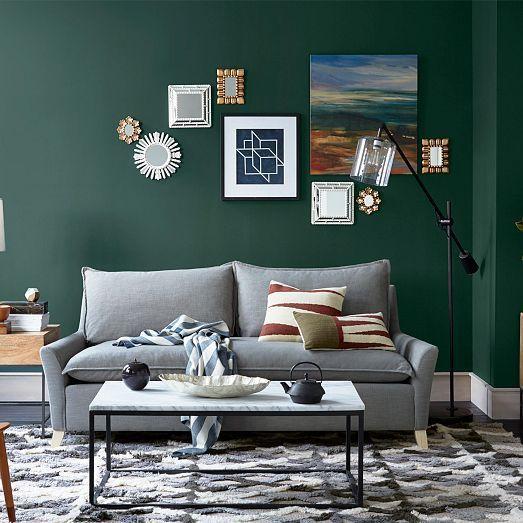 Roycroft Bottle Green Green Walls Living Room Living Room Green Home Decor