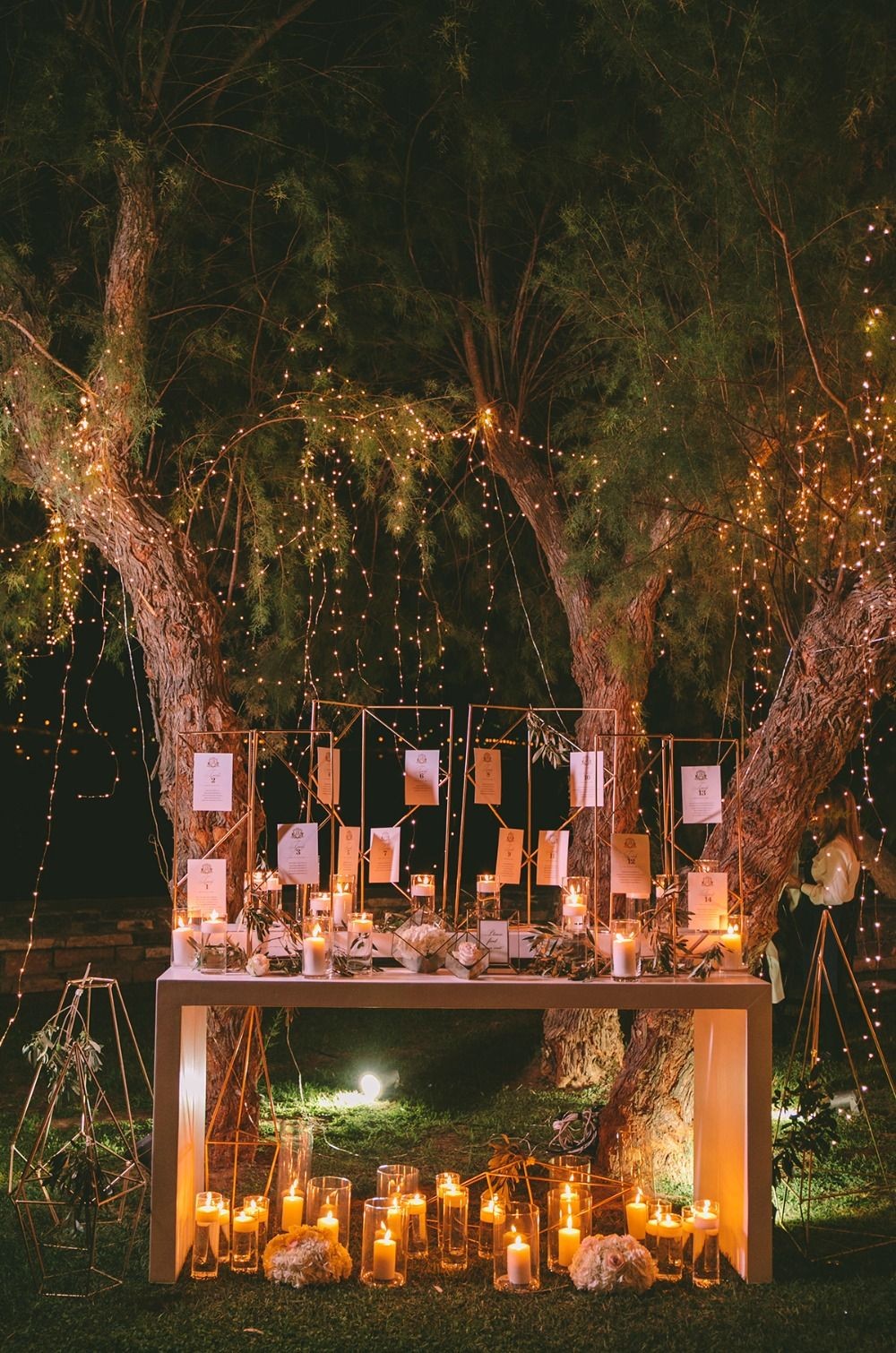 Glam Garden Wedding With A White And Copper Modern Twist is part of garden Table Yards - This glamorous wedding day will take your breath away, just wait for the sun to set!