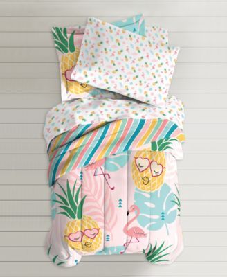Dream Factory Pineapple Full/Queen Comforter Set & Reviews - Bed in a Bag - Bed & Bath - Macy's