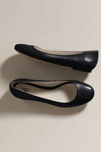 plain black ballet pumps