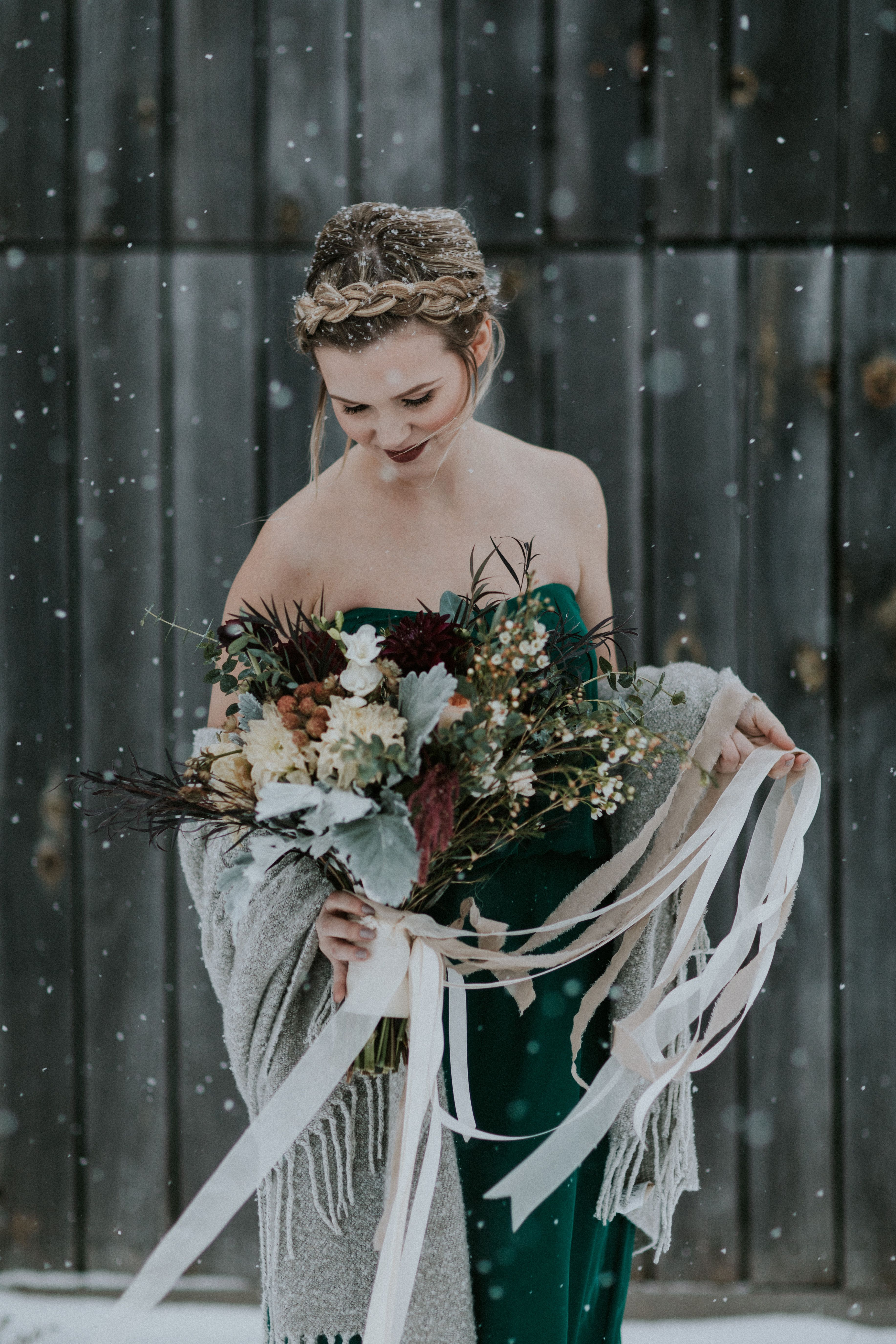 Bridal Portrait in the Snow