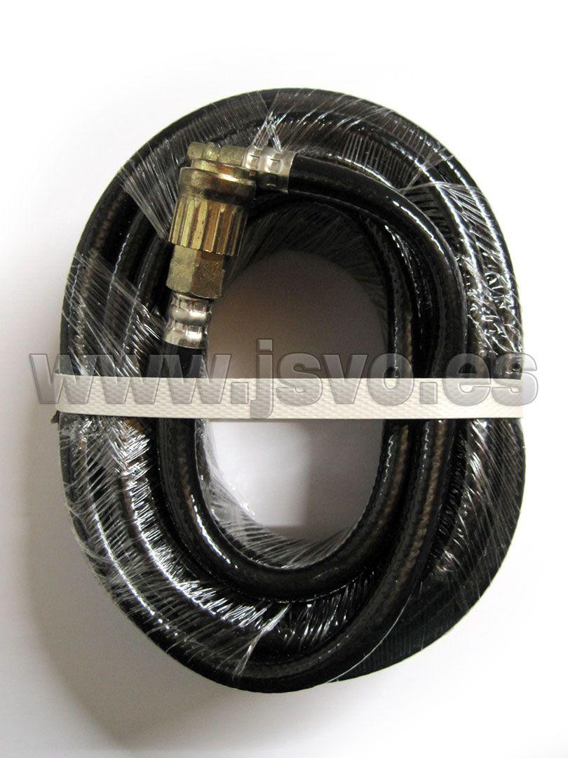 Manguera de goma Ø8x13 (10m) PVC negro con conectores universales Presión máx.: 20 bar (290psi) Ref.: 8973005908 #herramientas #bricolaje www.jsvo.es