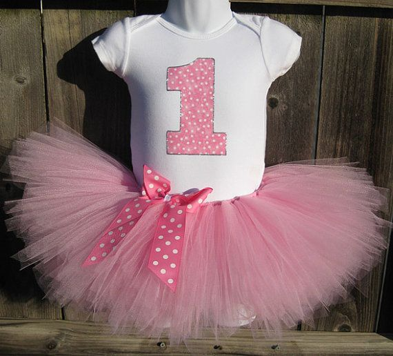 Pink Birthday Tutu Outfit and Matching Headband...Taffy by Zobows