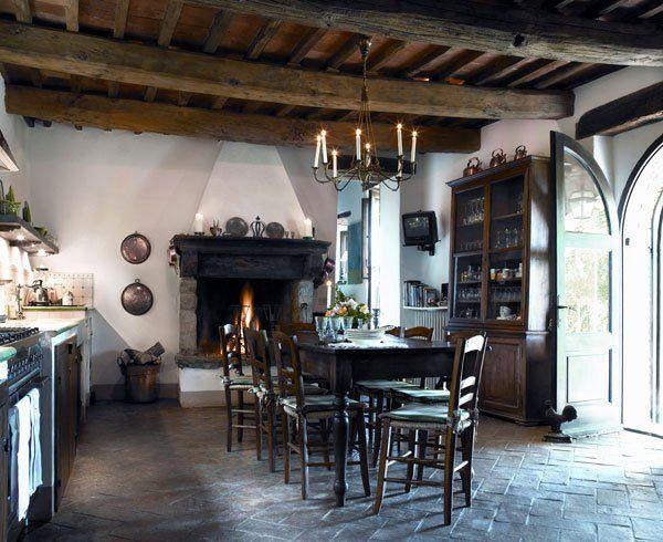 Cozinha de fazenda antiga