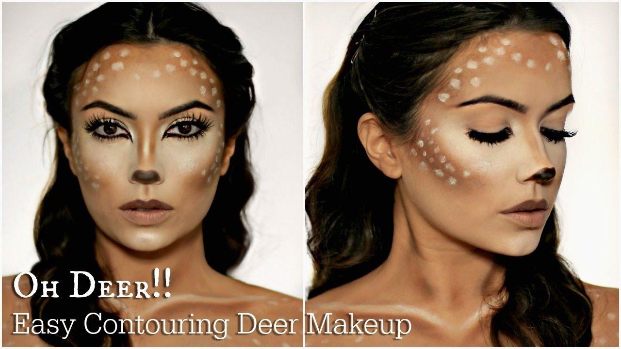 Einfaches Reh Makeup Kostum Idee Karneval Halloween Fasching Reh