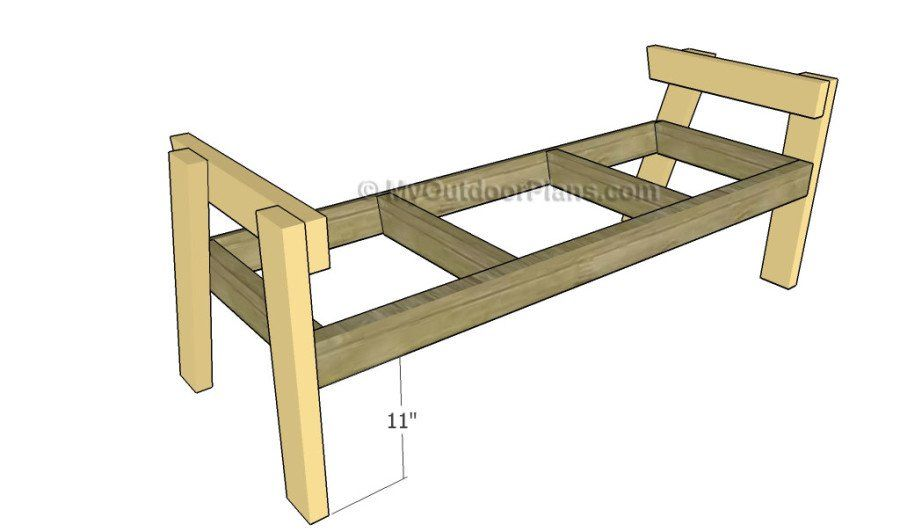 Superb Double Chair Bench With Table Plans Myoutdoorplans Free Pabps2019 Chair Design Images Pabps2019Com