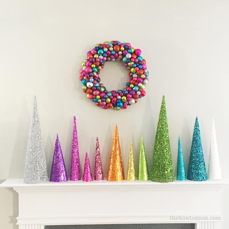 Glittery Christmas Tree Cones DIY | The How To Mom