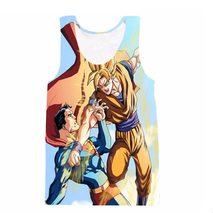 Click to buy ucuc goku fighting with superman tank tops men women