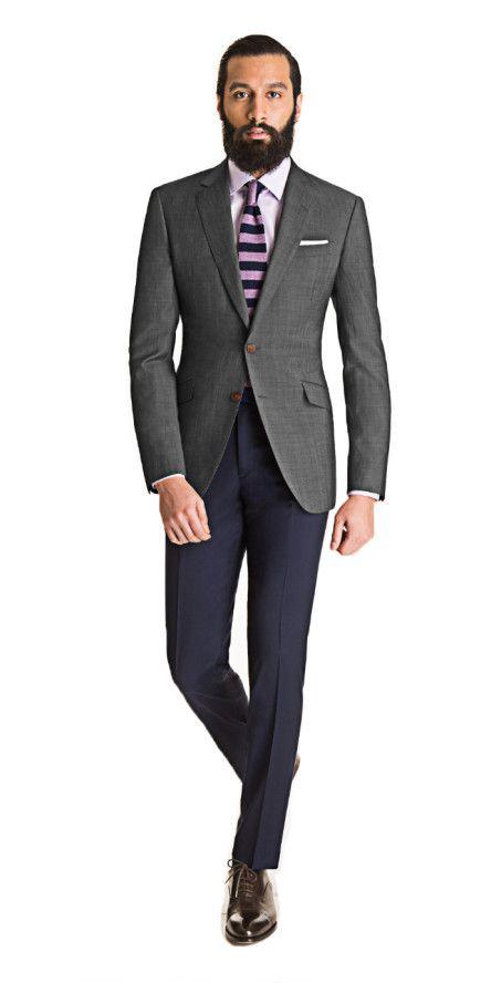 diseño elegante vende al por mayor elImage | Outfit Blazer Gris Oscuro en 2019 | Moda hombre ...