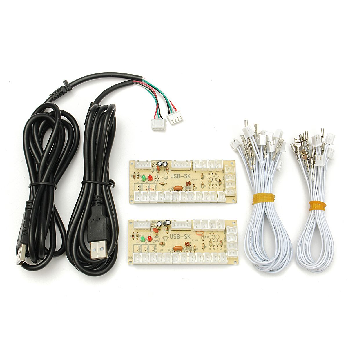 Arcade Encoder Pc To 2pin Joystick Happ Button 48mm Wires Zero Electrical Wiring Games Delay Usb