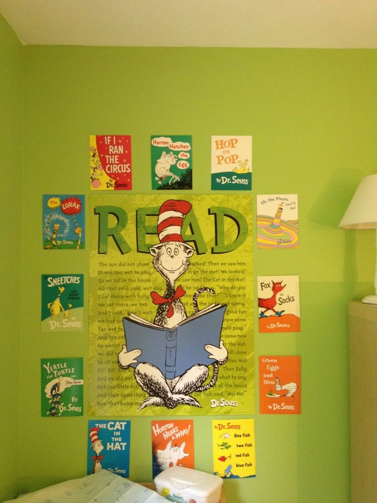 Dr. Seuss nursery using Cat in the Hat READ poster (available for ...