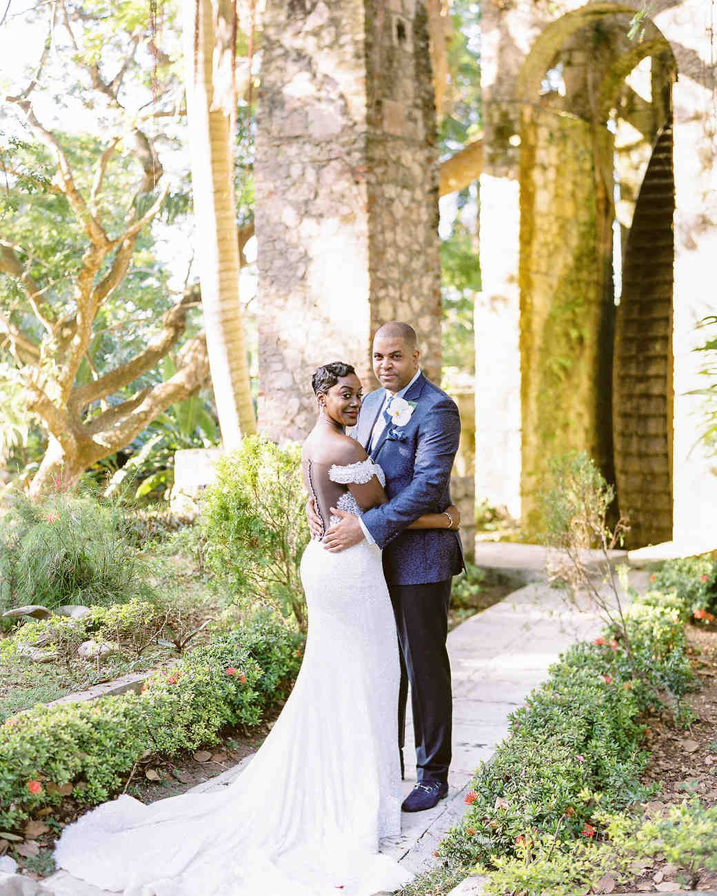 Wedding Hairstyles In Jamaica: This Couple Redefined Tropical Décor At Their Wedding In