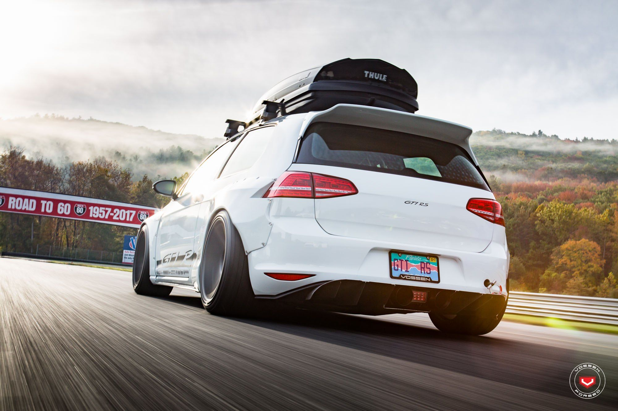 Golf Gti Rs With An Insane Rocket Bunny Wide Body Kit Volkswagen