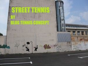 Street tennis or make the wall - solo tennis skills wall chart.