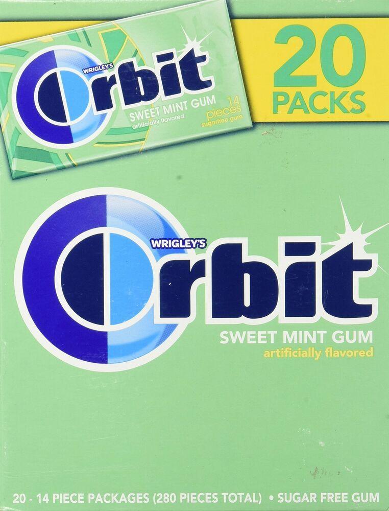 Orbitsweet mint gummildly sweet freshen 2014 piece