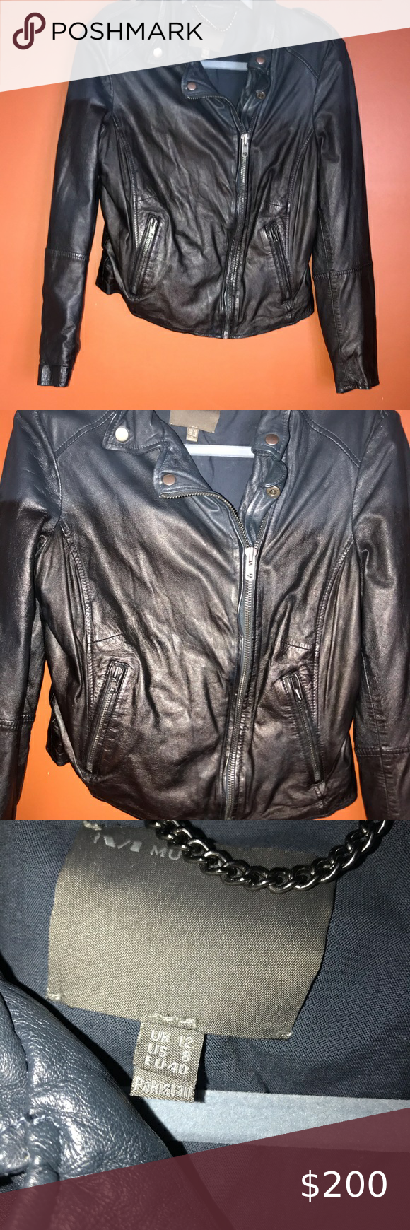 Muuba ombré leather jacket in 2020 Leather jacket