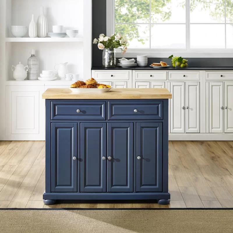 Canora Grey Bingaman Kitchen Island Solid Wood Reviews Wayfair