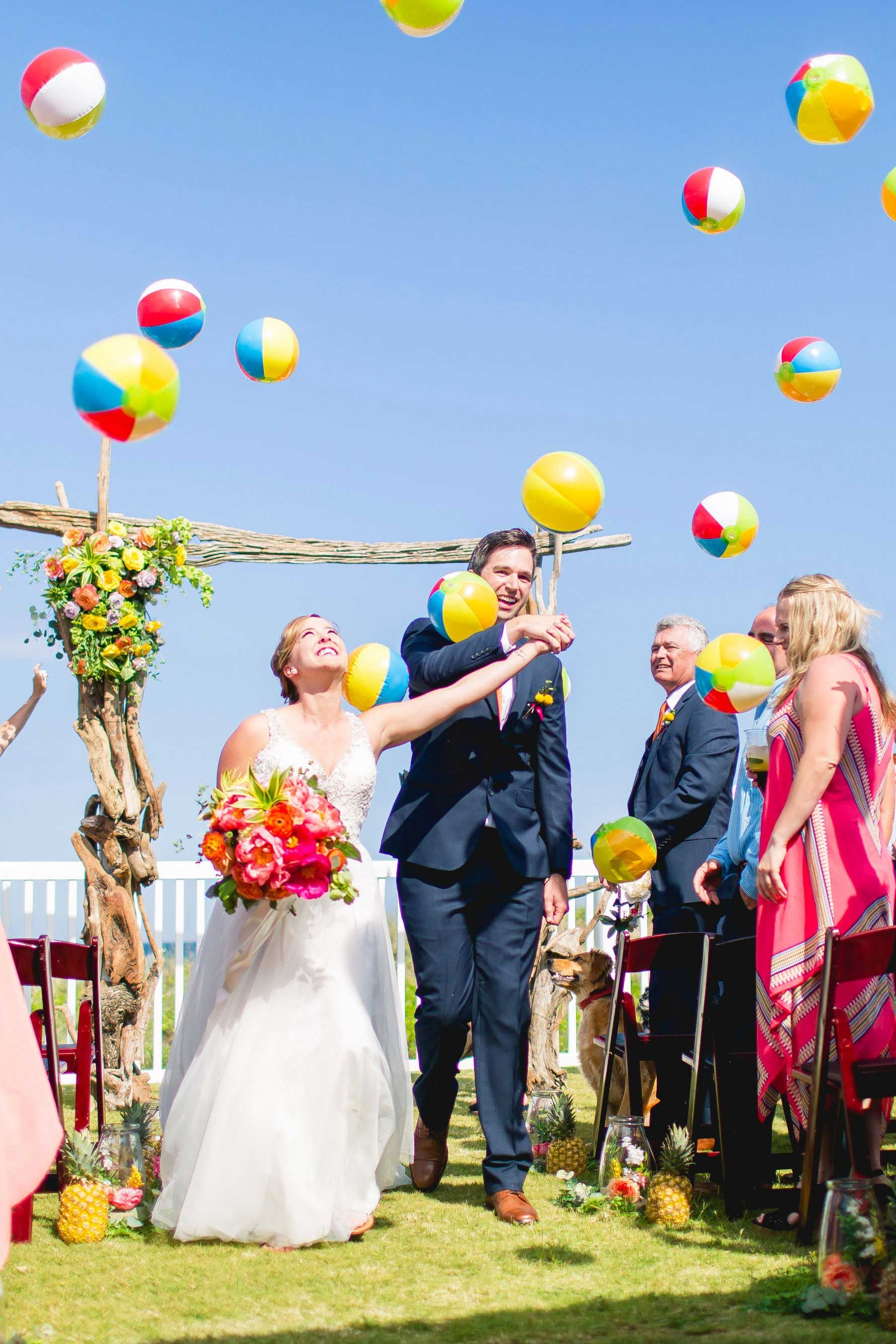 You Ve Got To See This Pineapple Obsessed Bride S Wedding Outer Banks Beach Wedding Obx Beach Coastal Wedding