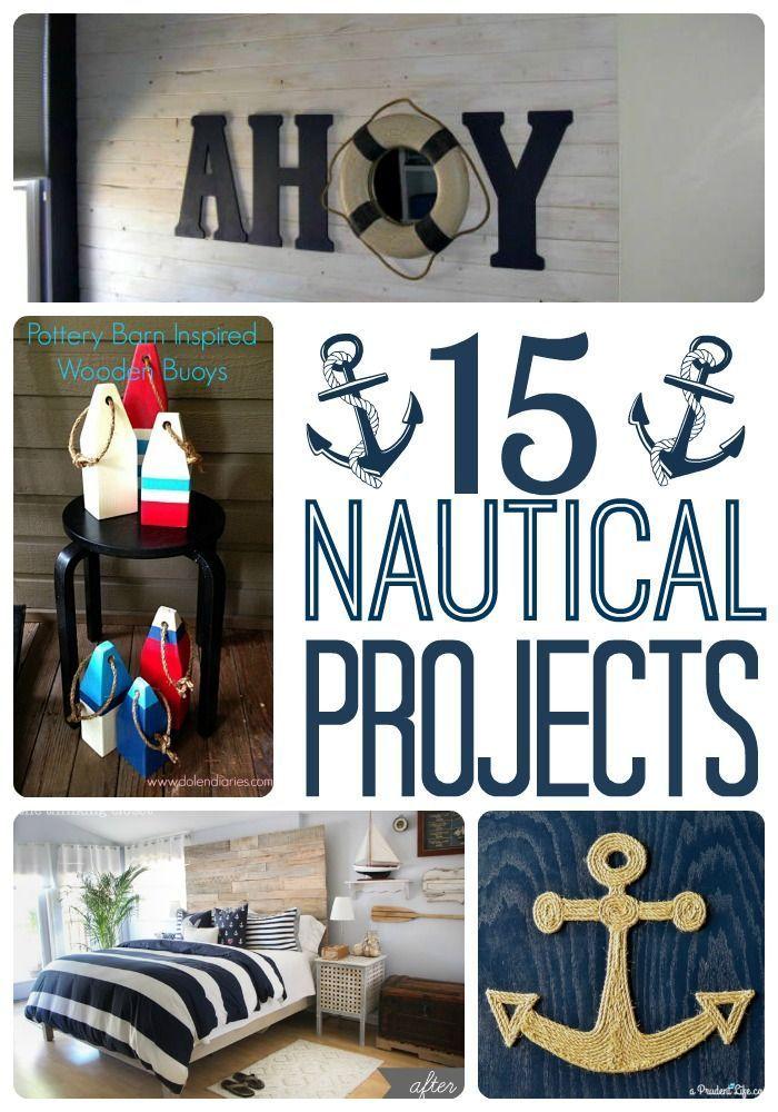 Diy Nautical Decor Roundup A Prudent Life Nautical Diy