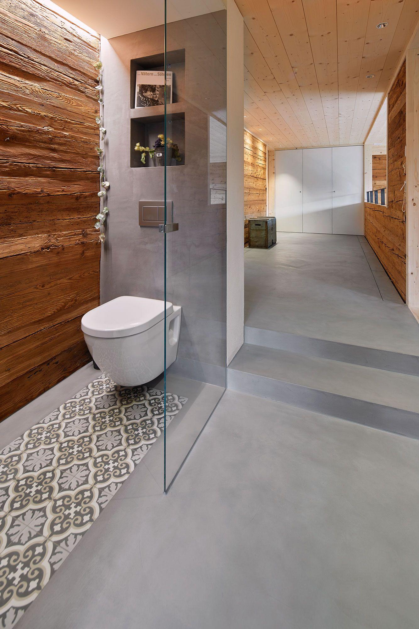 Bader Von Naturofloor Fugenloser Boden Badezimmer Ohne Fenster Bad Wand