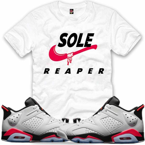 Air Jordan 6 Shirt Blanc Infrarouge