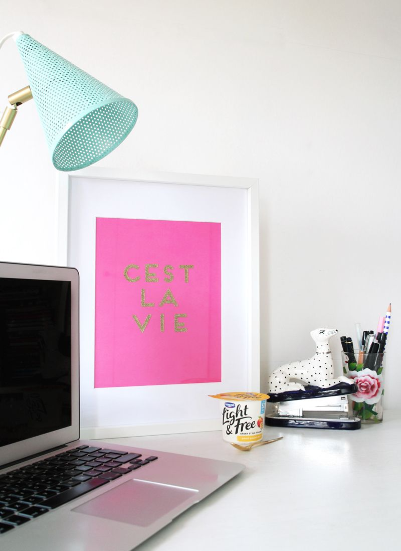 How To Make Glitter Quote Wall Art For Your Home Cocosteaparty