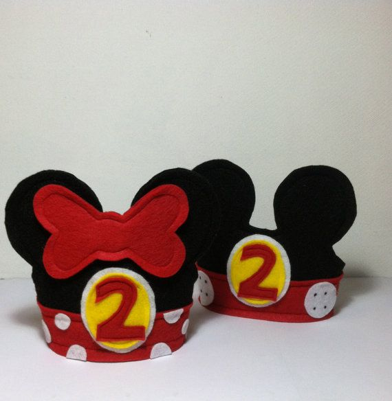 Mickey Mouse - Minnie Mouse - Birthday Hats - Birthday Crowns - Happy Birthday Hats - Dressup on Etsy, ¥2,127.66