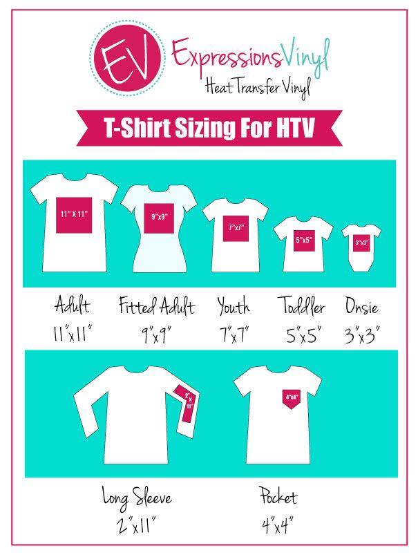 shirt sizing chart also machine settings my vinyl design tips and tricks pinterest rh