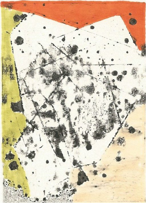 jns_artworks - ACEO Miniature ETCHING w/ MONOPRINT & hand Coloring ORIGINAL ooak - MODERN #20 #Abstract