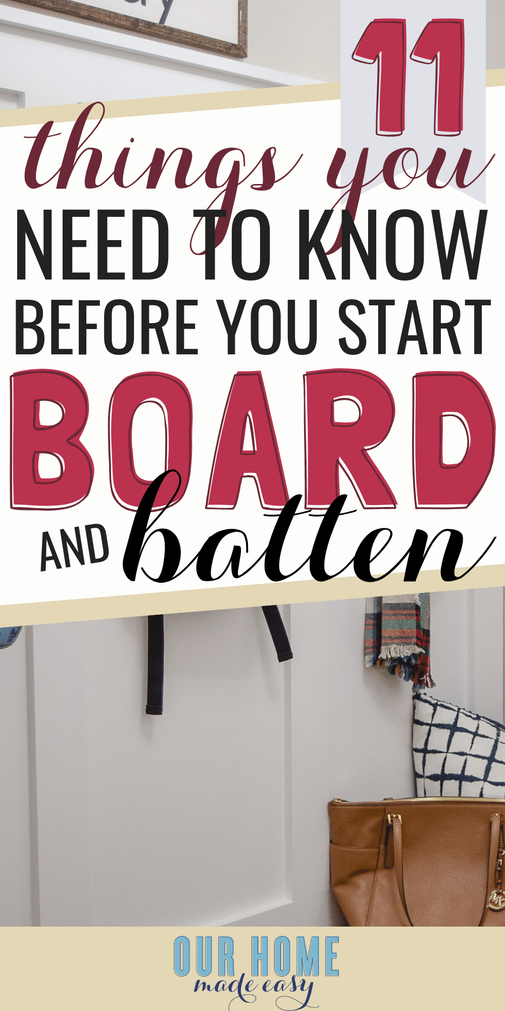 11 Things You Need to Know Before Making Board & Batten Walls [ORC Week 2] is part of Home Accessories Decor DIY Projects - Here are the most important things to know before you start board & batten walls! Learn the tricks to making the project so much easier!
