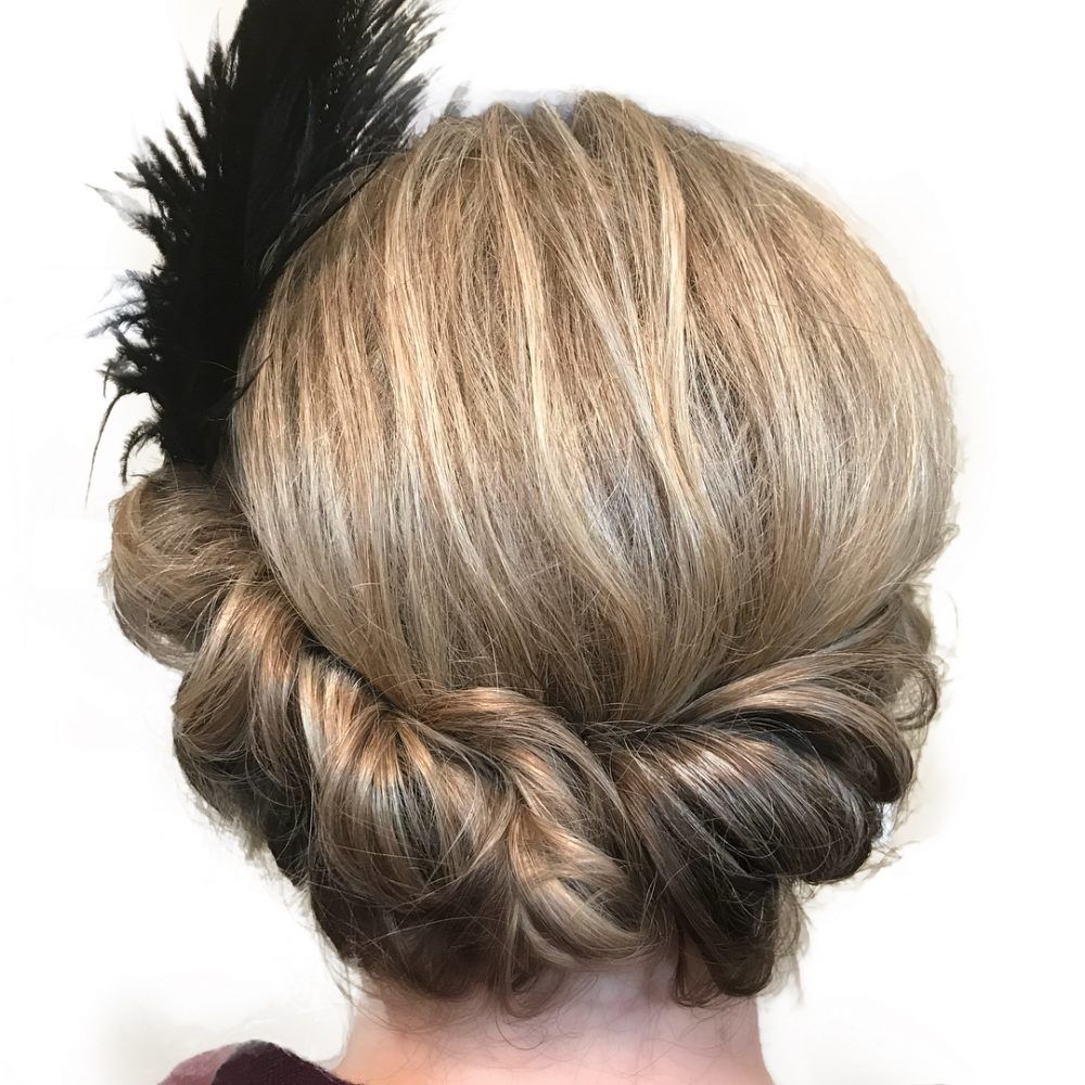 Roaring Twenties Hairstyles For Copacetic Couture Hair Styles Medium Hair Styles Side Chignon