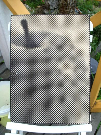 Halftone made with drill holes!