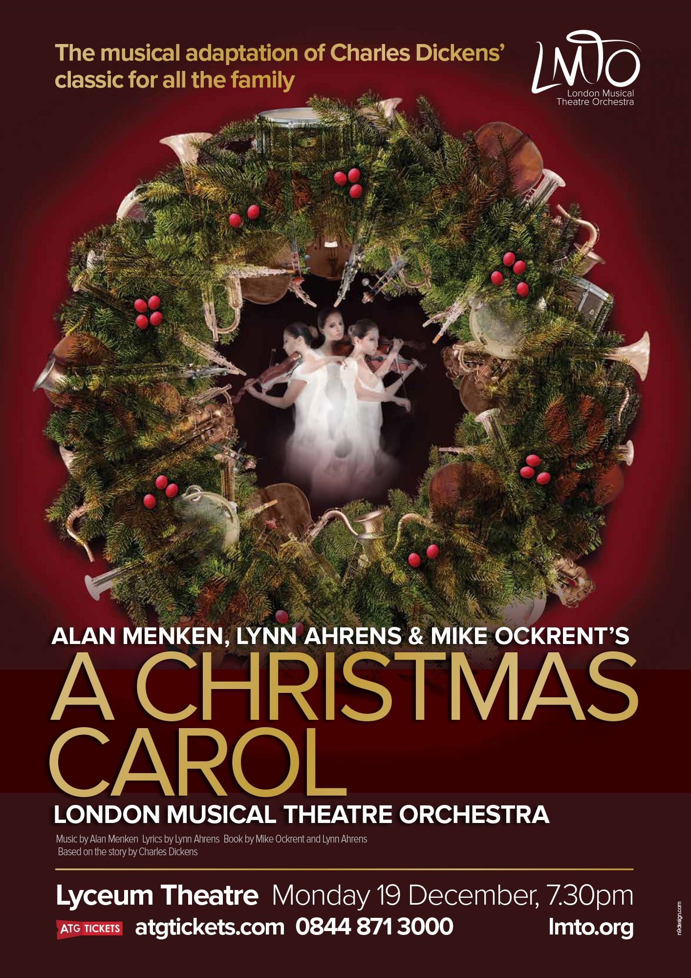design of concert poster for london musical theatre orchestra s a