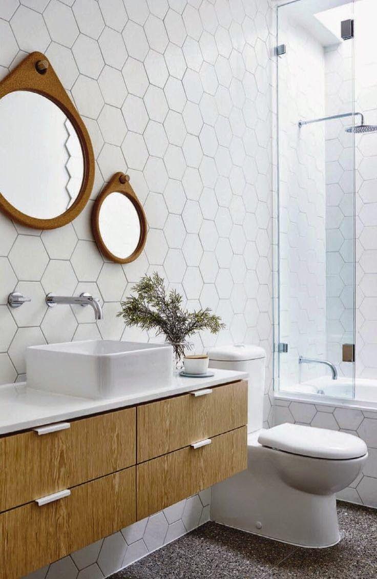 Blog Dla Ludzi Z Wnetrzem Plytki Heksagonalne Modern Bathroom Tile Mid Century Modern Bathroom Modern Bathroom Design