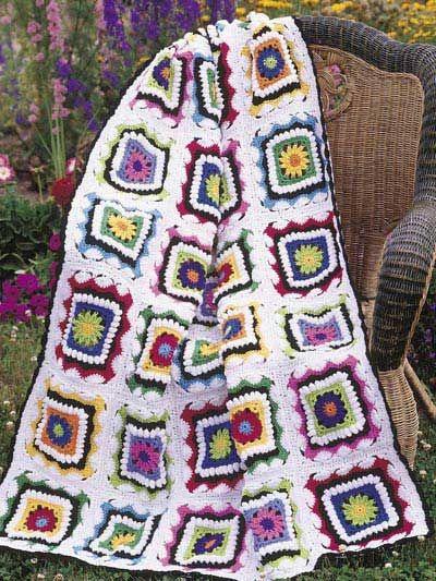 Kids Kaleidoscope Afghan By Carol Alexander - Free Crochet Pattern ...